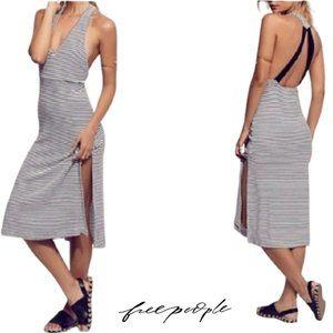 Free People Striped Midi Dress